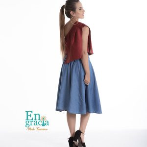 ce11fa0a7a Falda Soledad Denim - Engracia Moda