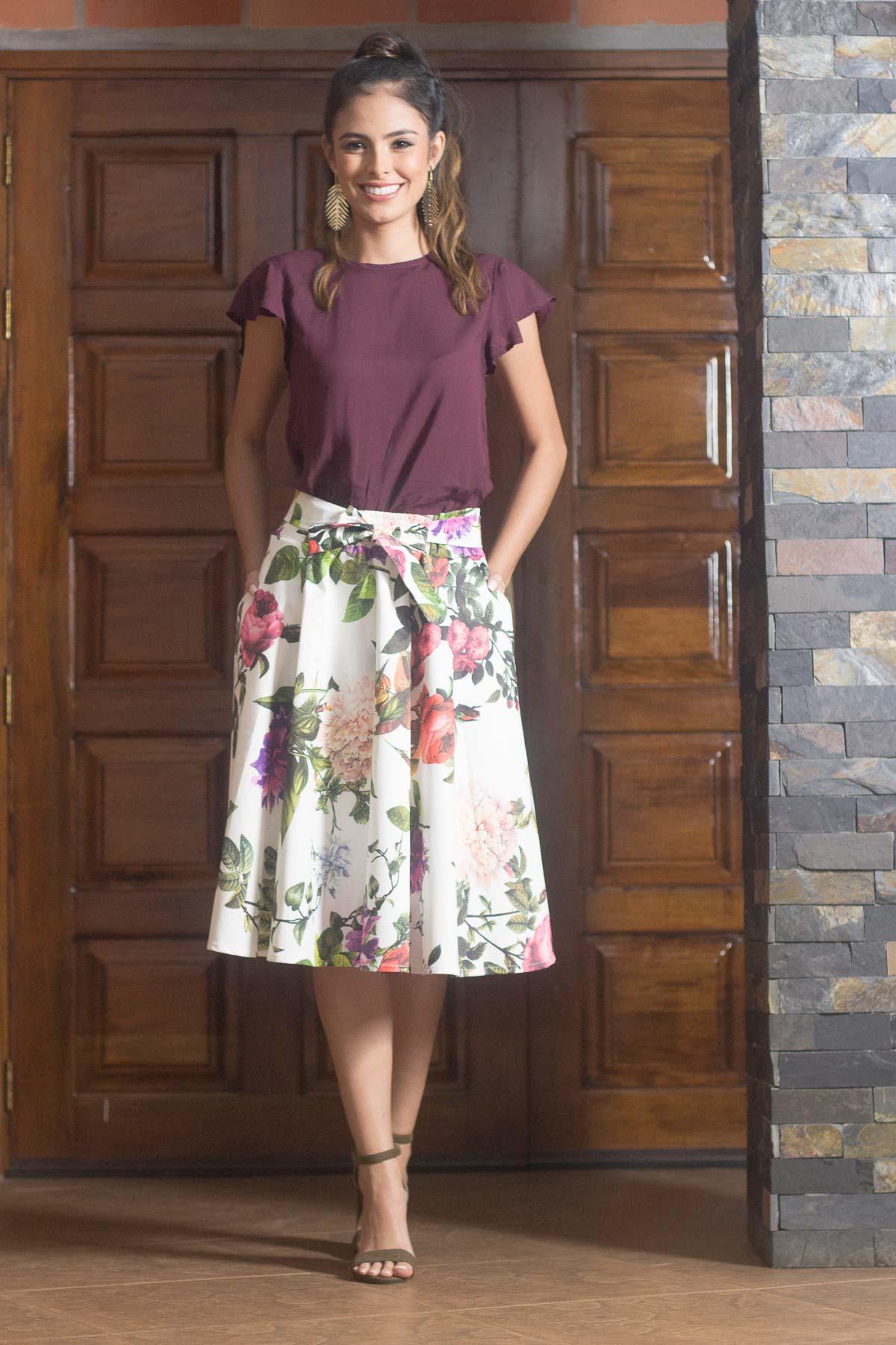 4fc5eac4bf Falda Soledad flores - Engracia Moda