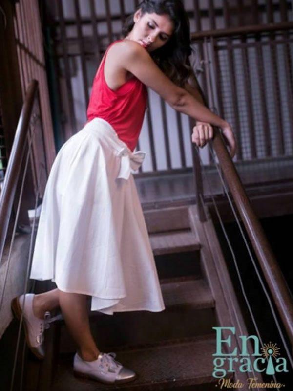 b25b0e6290 Falda Soledad Drill - Engracia Moda