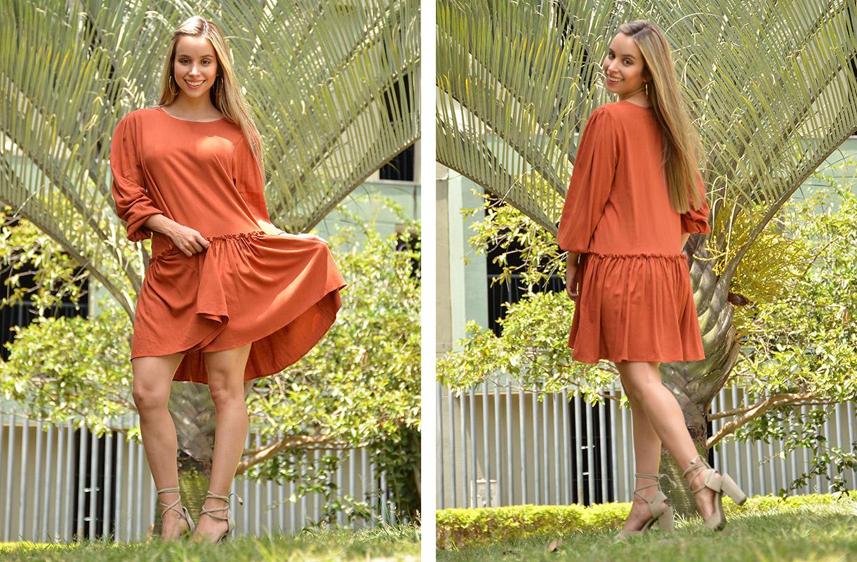 vestido color mujer