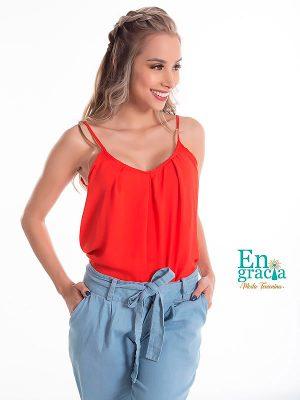 blusas de moda 2020 rojas