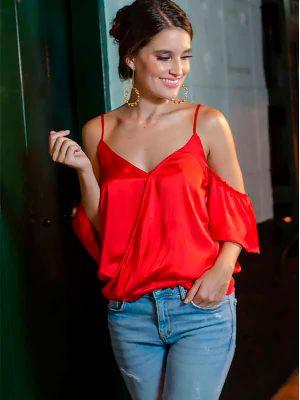 blusas con boleros roja