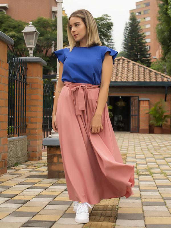 blusas de moda azul
