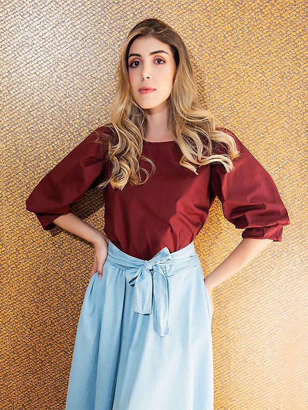 blusas de moda para mujeres vino