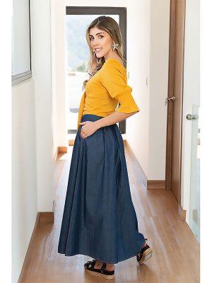 blusas para faldas largas