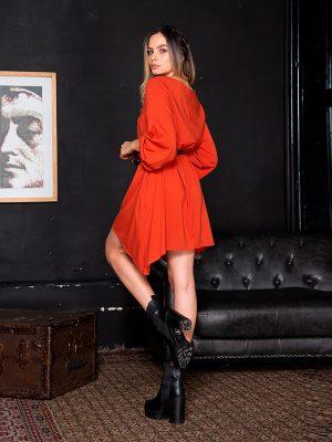 vestidos de moda rojo