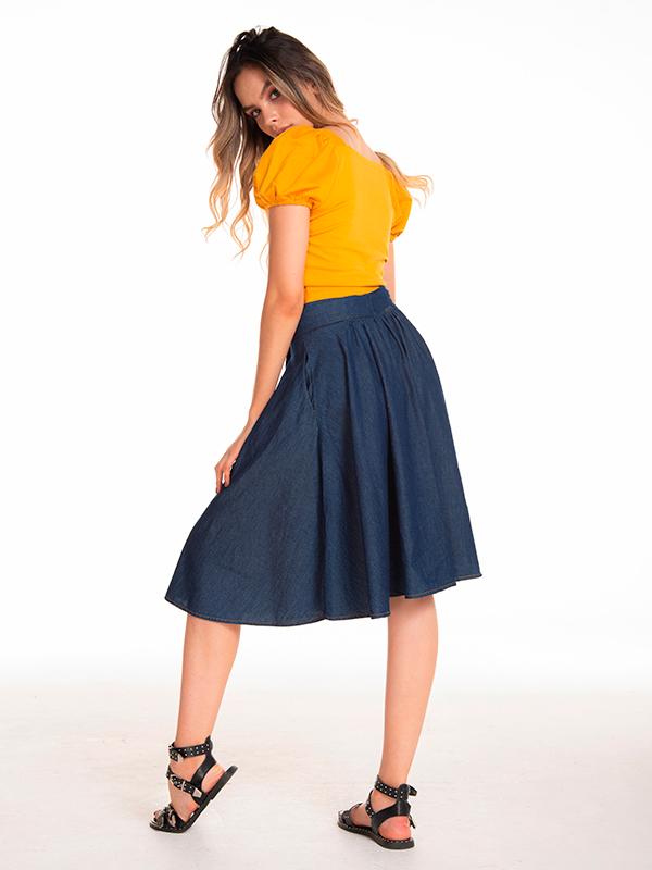 blusa casual amarilla