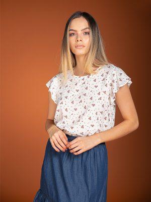 Blusa de moda Antonieta Estampada
