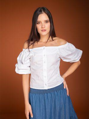 Blusa Casual Nadine Blanca