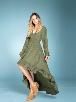 Vestido de moda Naomi Verde