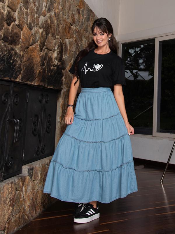 faldas largas para mujeres delgadas