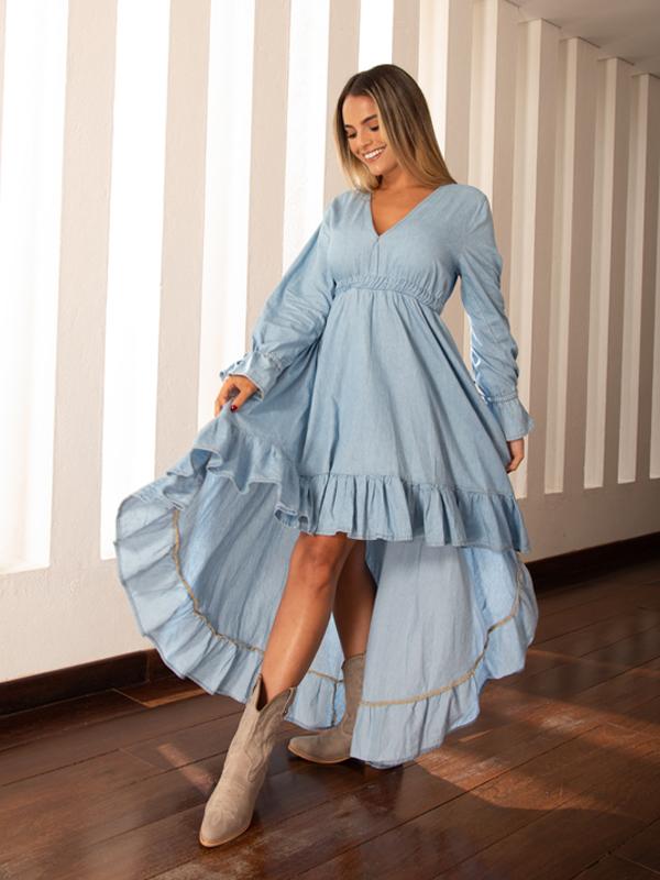 Vestido en índigo